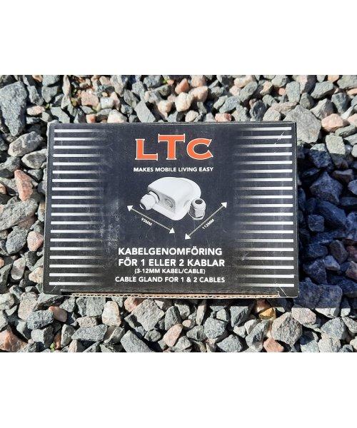 FYND - LTC kabelgenomföring för 1 eller 2 kablar