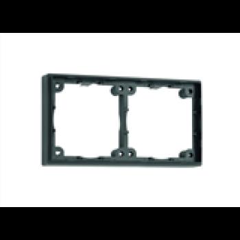Distansram dubbel. 12 mm. Färg: svart.