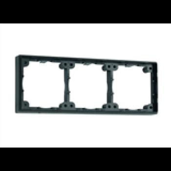 Distansram trippel 12 mm, Svart