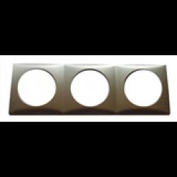 Ram Berker. Trippel. 3x60x60 mm. Färg: matt krom.
