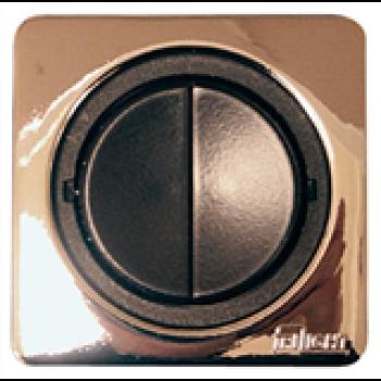 Strömbrytare dubbel med rund knapp.