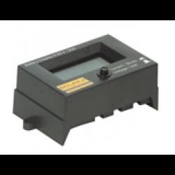 Digital kontrolldisplay för solcellsenheter och batteri.