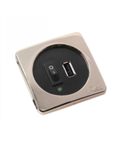 Frilight USB-uttag med strömbrytare