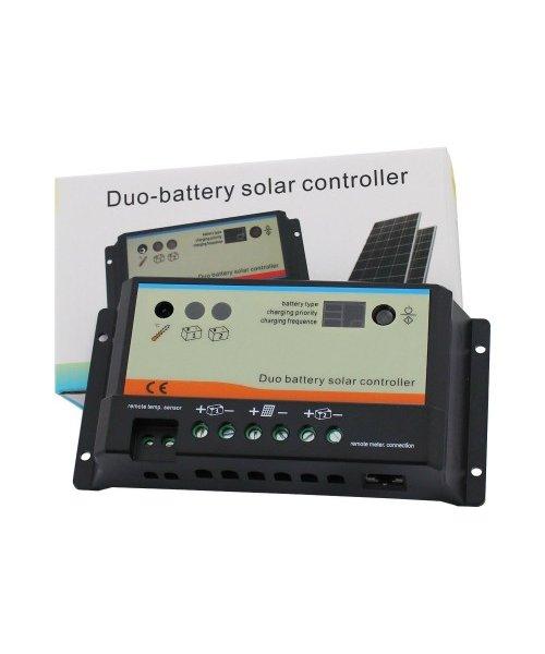 Solcellspaket 80W för laddning av dubbla batterier