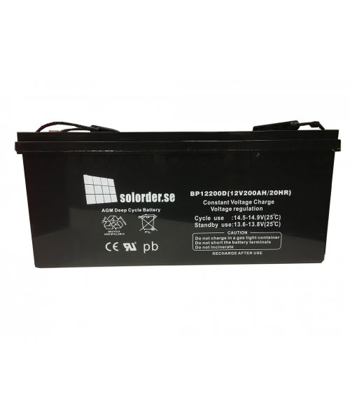 Solorderbatteri 200 Ah