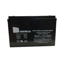 Solorderbatteri 100 Ah