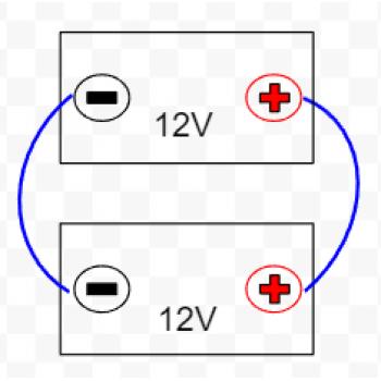 Extra batterikabelset för parallellkoppling